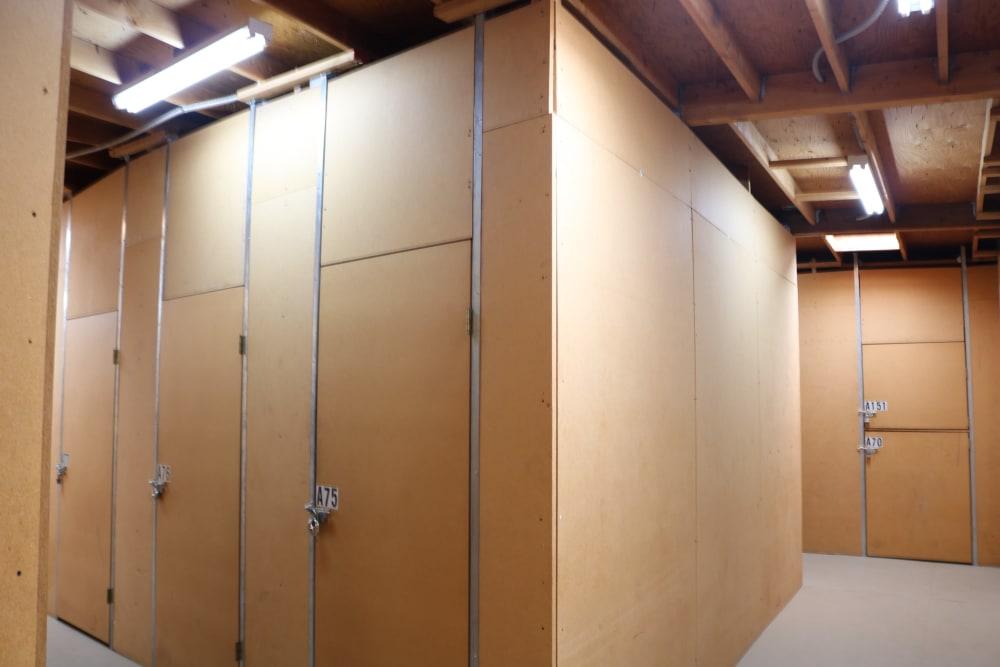 Inside storage units at Golden State Storage - Golden Triangle in Santa Clarita, California