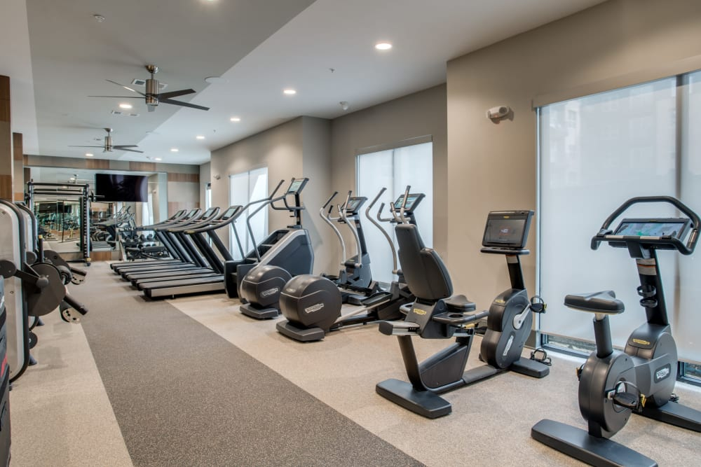 Clubhouse gym at Apartments in Dallas, Texas
