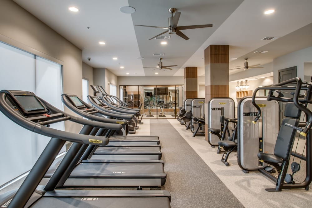 Apartments with a state of the art gym at Alta Trinity Green