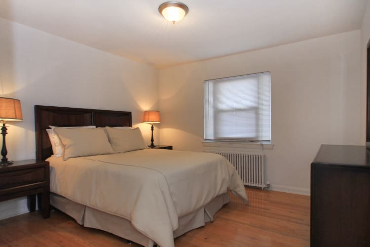 Beautiful bedroom at apartments in Elmwood Park, New Jersey