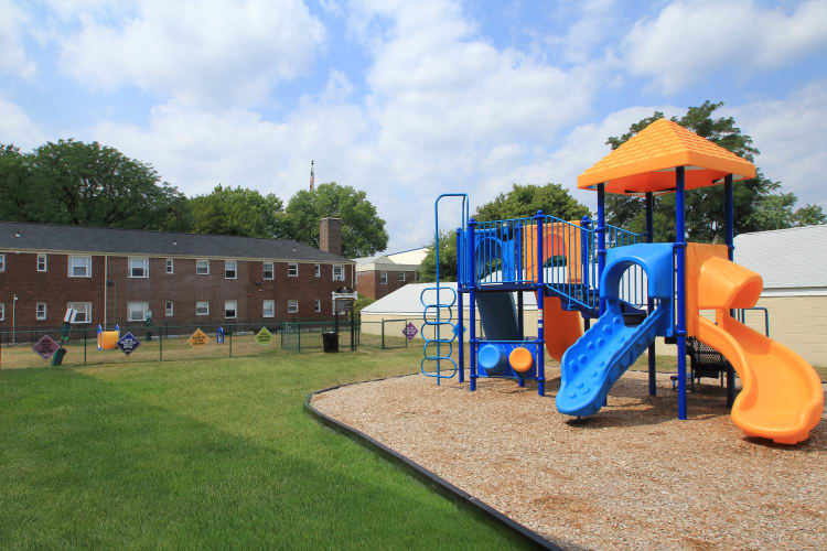 Playground at apartments in Elmwood Park, New Jersey