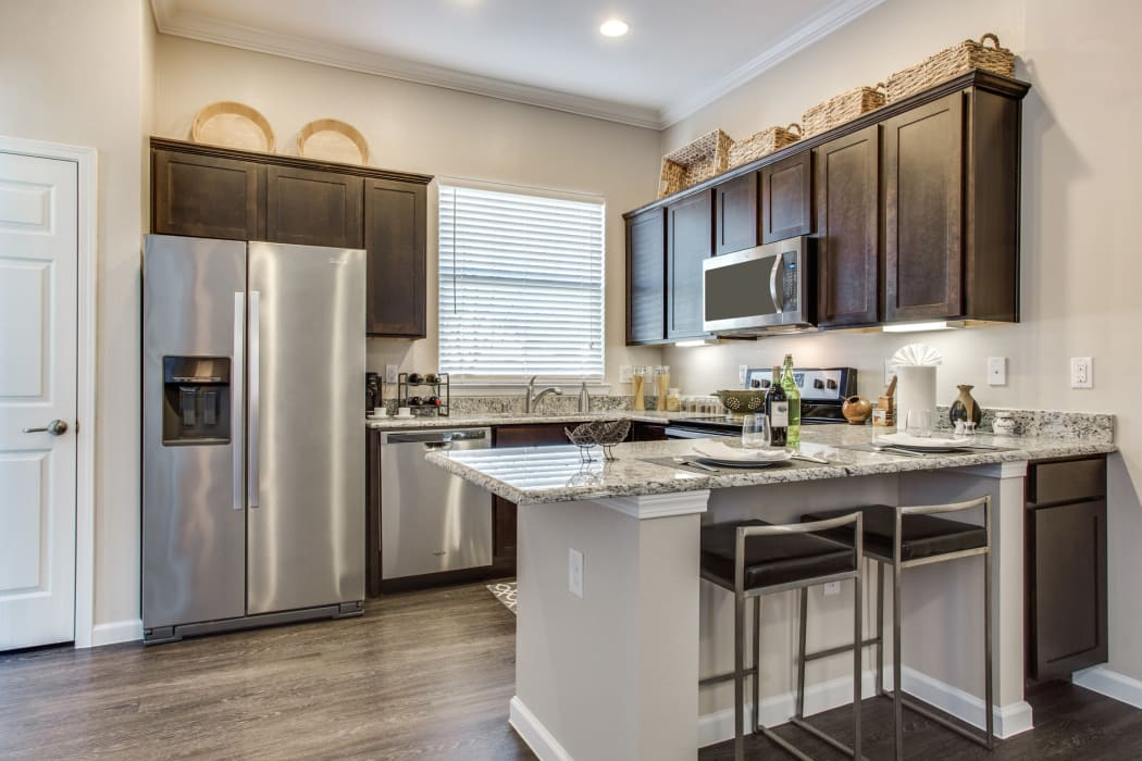 Model kitchen at Avilla Premier in Plano, Texas