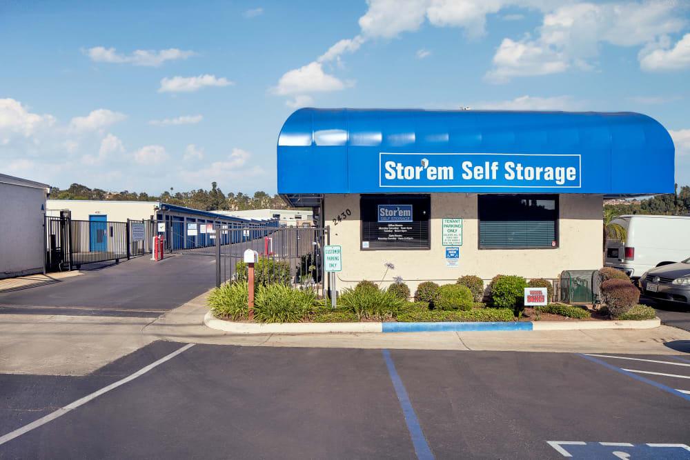 Street view of Stor'em Self Storage in Vista, California