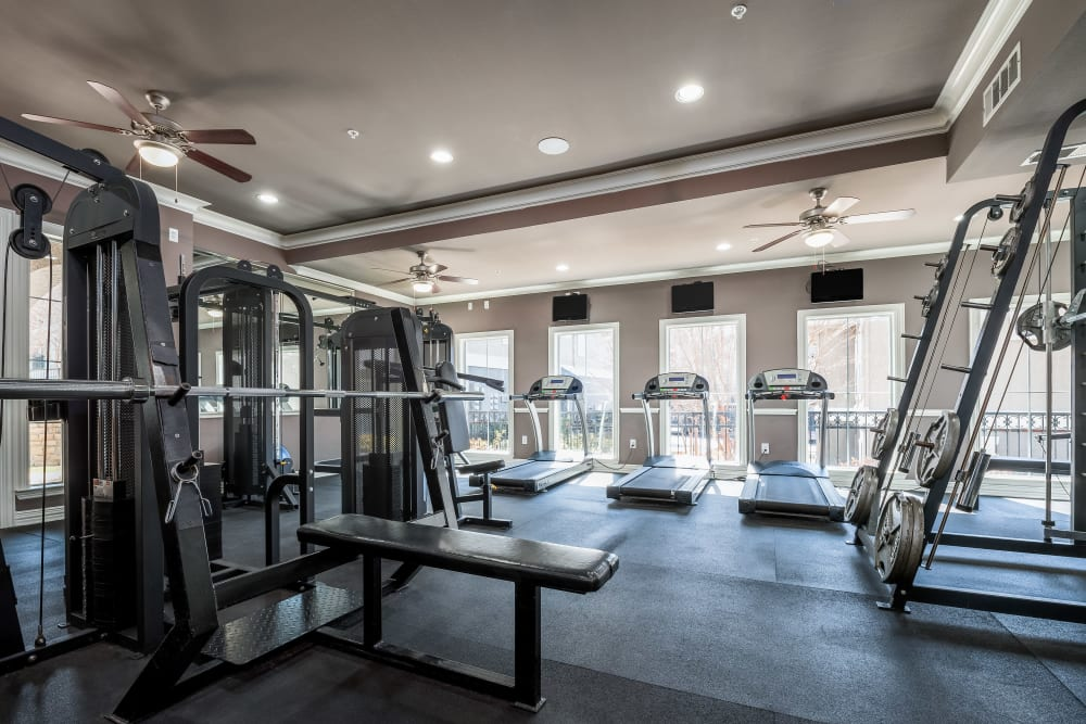 Onsite fitness center at Vail Quarters in Dallas, Texas