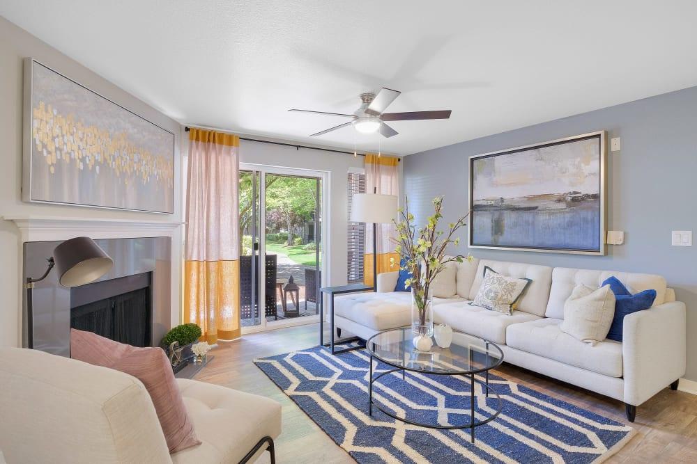 Luxury living room at Centro Apartment Homes in Hillsboro, Oregon