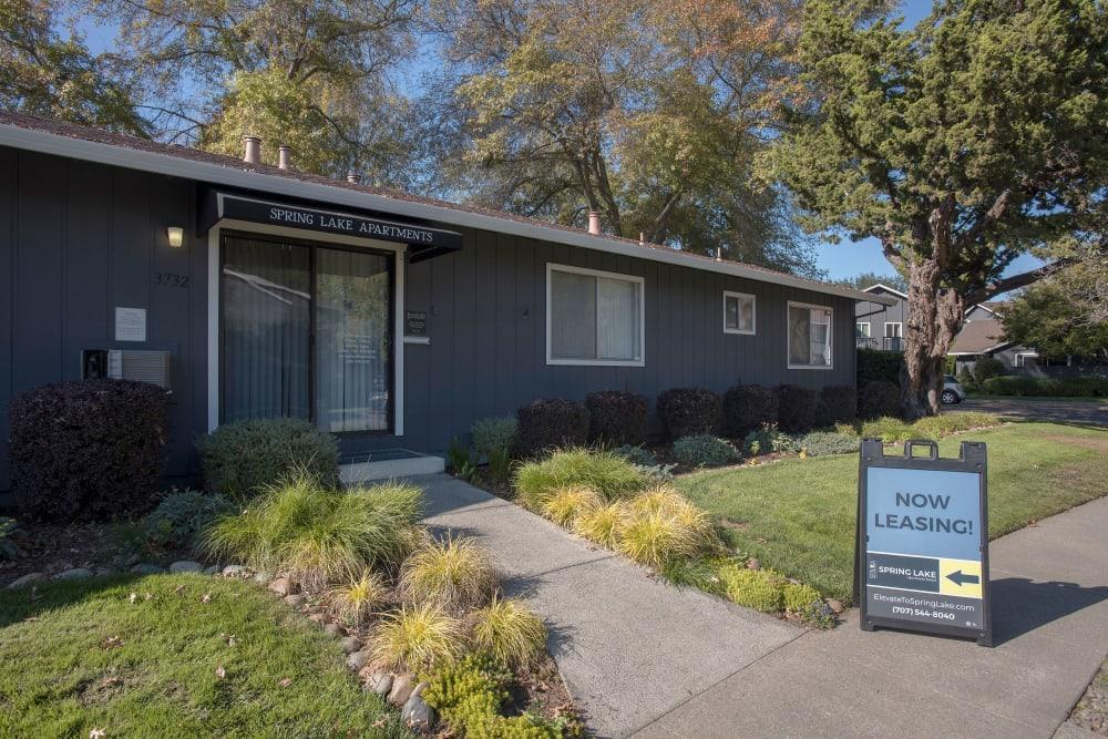 Fitness center entrance at Spring Lake Apartment Homes in Santa Rosa, California