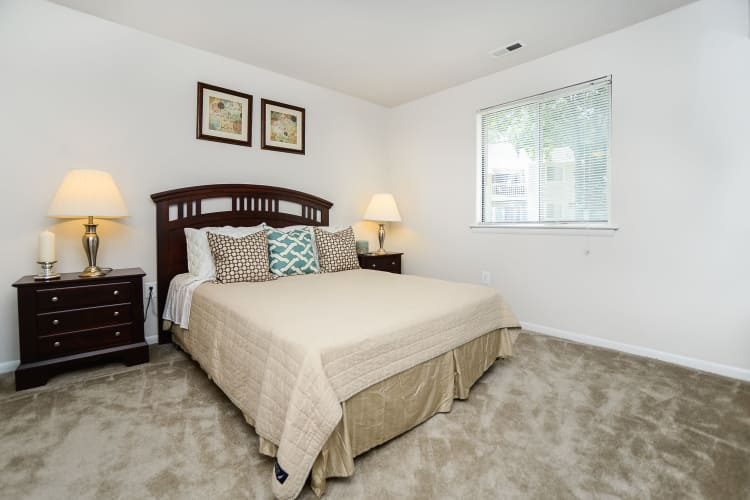 Beautiful bedroom at apartments in Absecon, New Jersey
