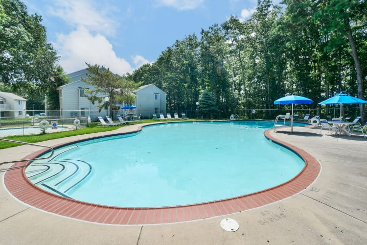 Swimming pool at The Landings Apartment Homes in Absecon, New Jersey