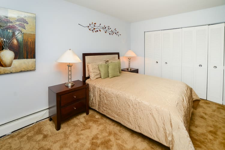 Beautiful bedroom at apartments in Bellmawr, New Jersey