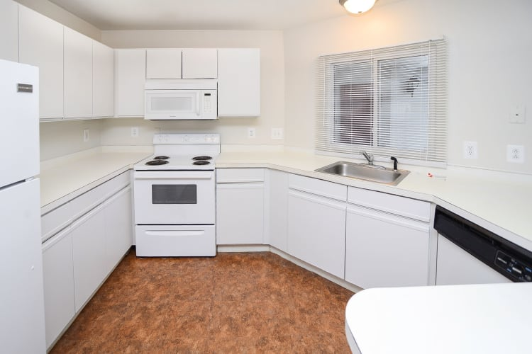 Seagrass Cove Apartment Homes offers a modern kitchen in Pleasantville, New Jersey
