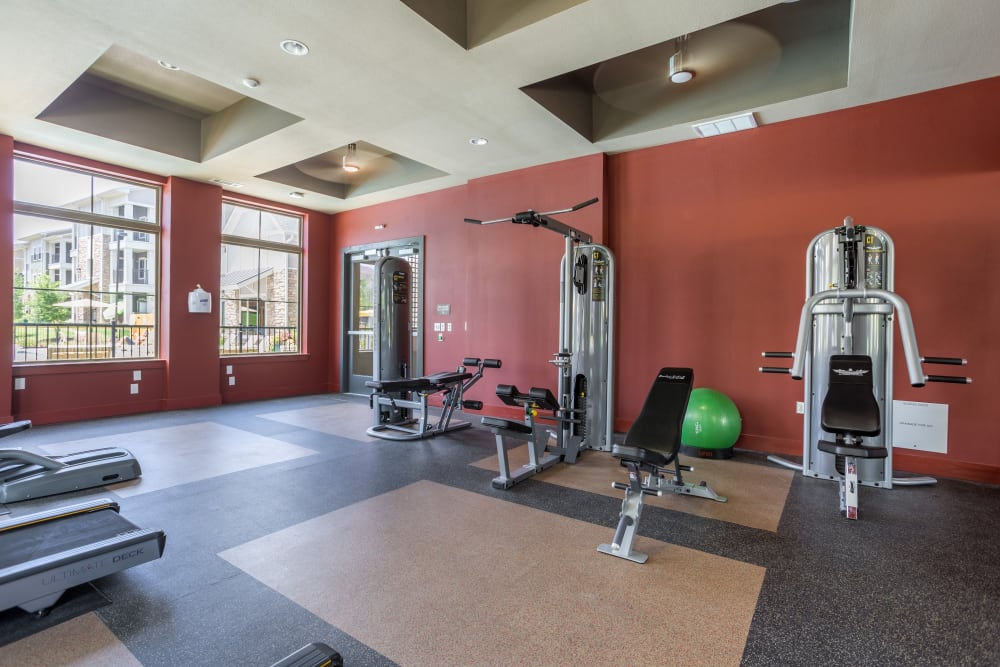 Fitness center at Encore 281 in San Antonio, Texas