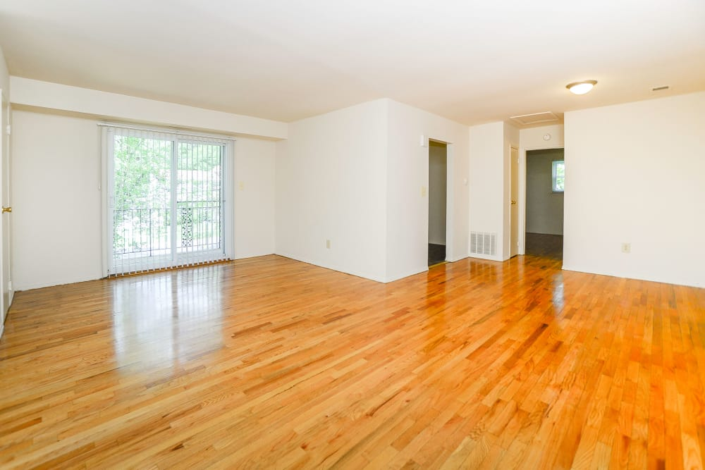 Apartment interior with hardwood floors at apartments in Freehold, NJ