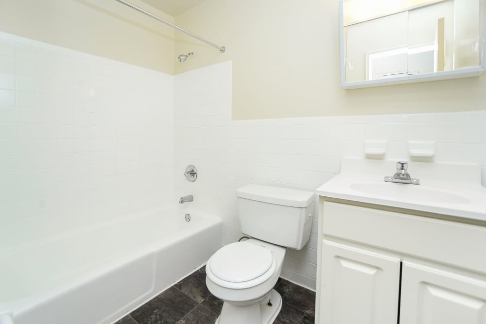 Bathroom at Post & Coach Apartment Homes in Freehold, NJ