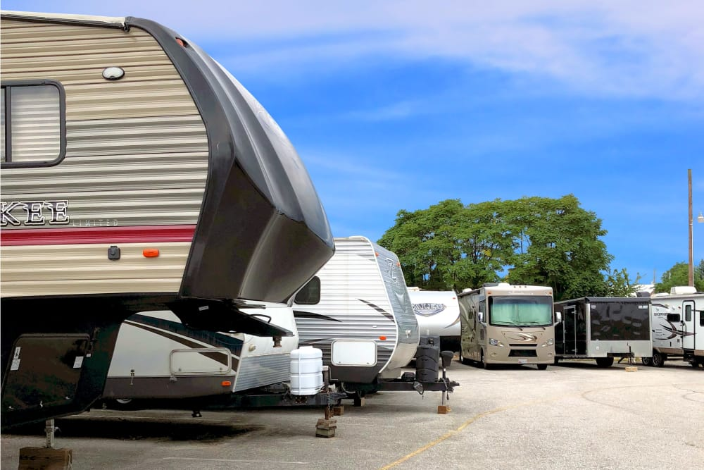 RV storage parking at Capital Self Storage in Hanover, Pennsylvania