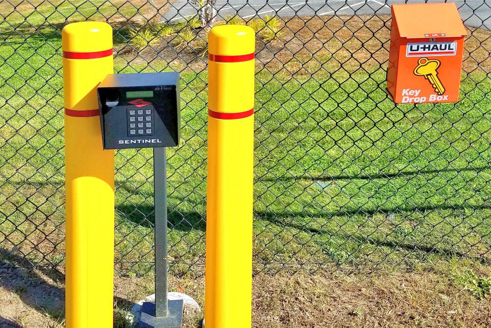 Security key pad entry at Prime Storage in Berwick, Maine