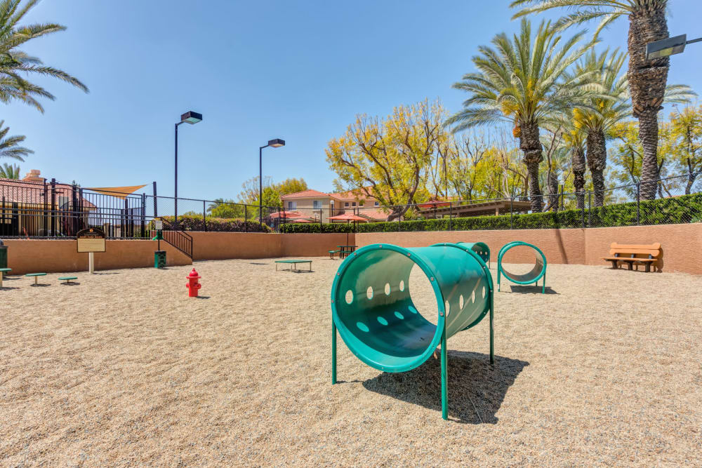 Have fun with your furry friend in the dog park at Tuscany Village Apartments in Ontario, California