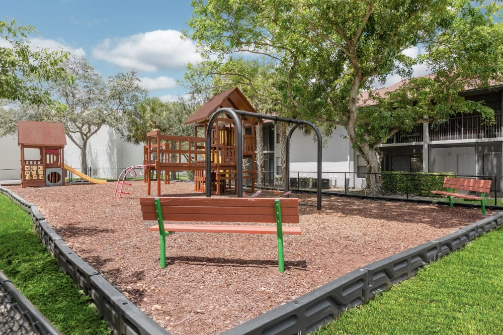 Playground at Siena Apartments in Plantation, Florida