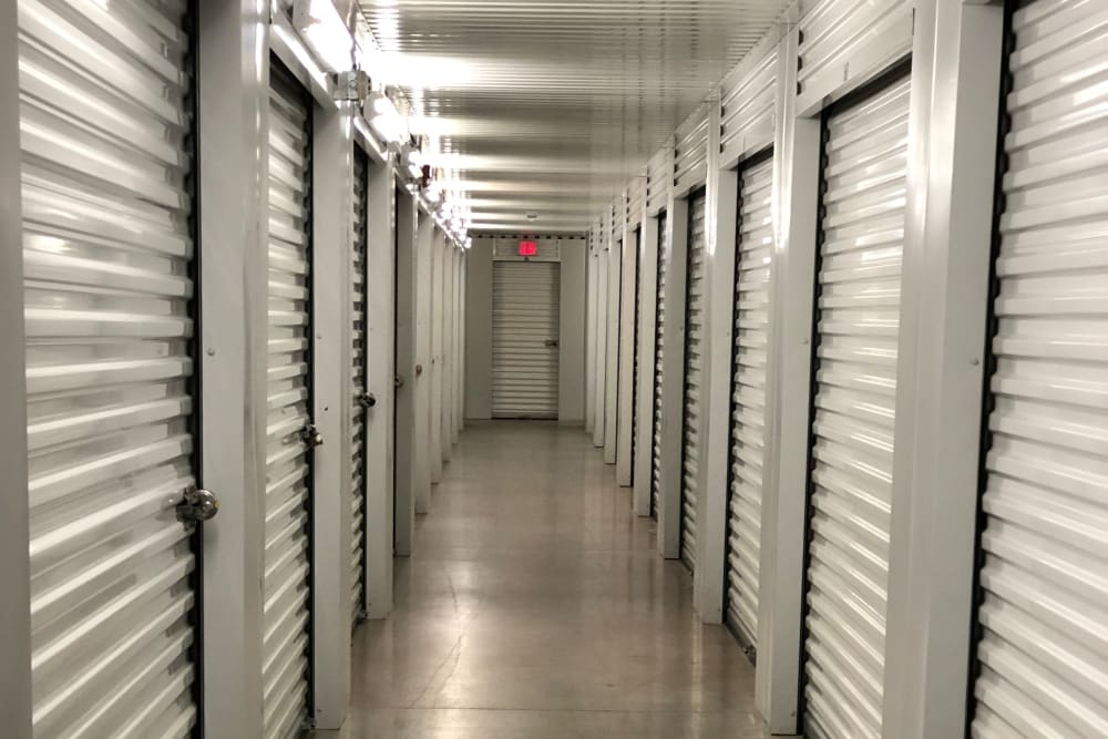Indoor storage units at Store It All Self Storage - FM 529 in Houston, Texas