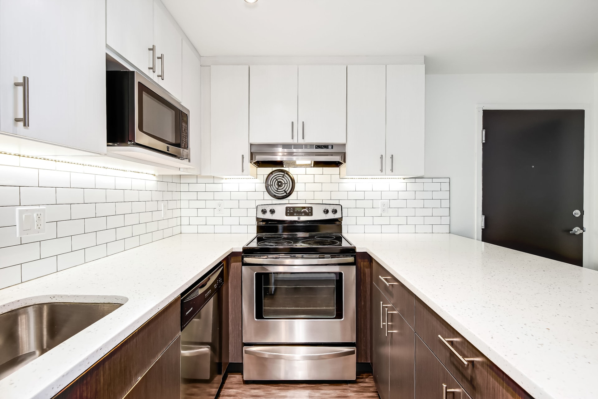 Modern Kitchen area at Union 18 in Seattle, Washington