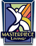 Masterpiece living logo for Celebration Village in Suwanee, Georgia
