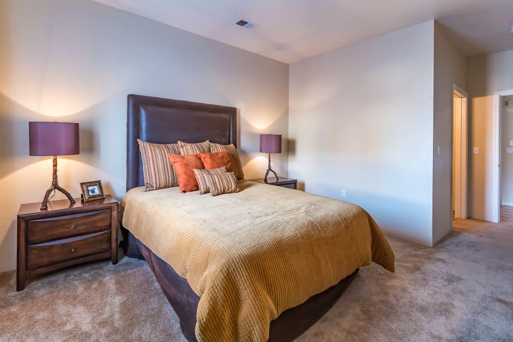 Bright bedroom at San Miguel del Bosque in Albuquerque, New Mexico