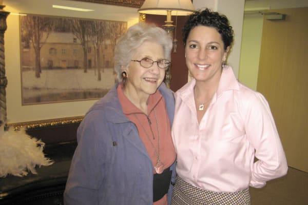 A resident and her daughter at Somerset Assisted Living in Gladstone, Oregon