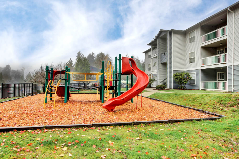 Have fun with your kids on the playground at Pebble Cove Apartments in Renton, Washington
