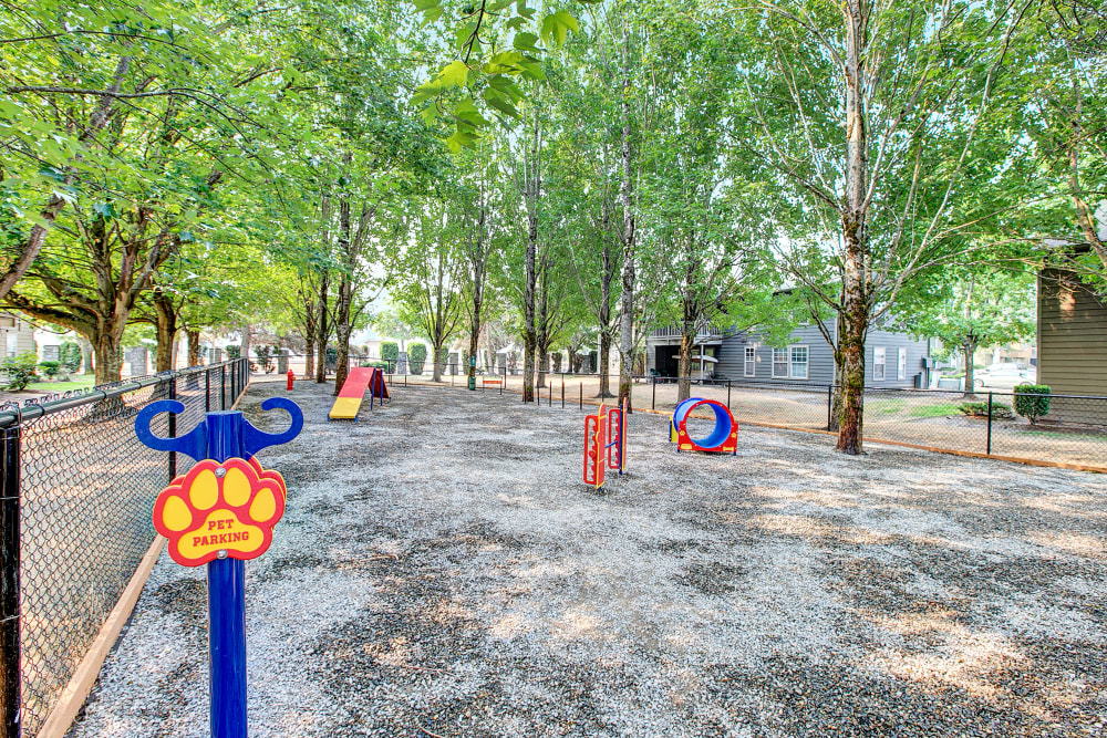 Have fun with your furry friend in the dog park at Waters Edge Apartments in Kent, Washington