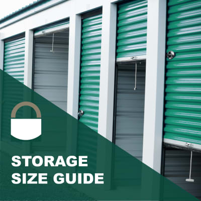 Storage size guide from Lock It Up Self Storage in Ogden, Utah