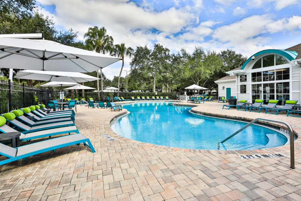 Resort-style pool and sun deck at Amira at Westly in Tampa, Florida