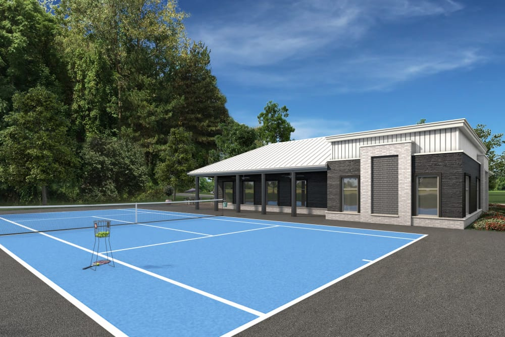 Rendering of sport court at Everly Roseland in Roseland, New Jersey