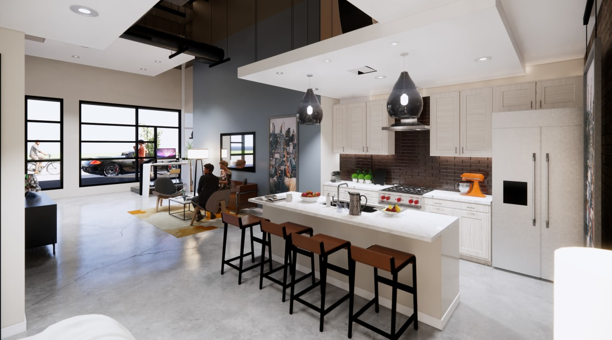 Large and spacious kitchen at Brio Apartment Homes in Glendale, California