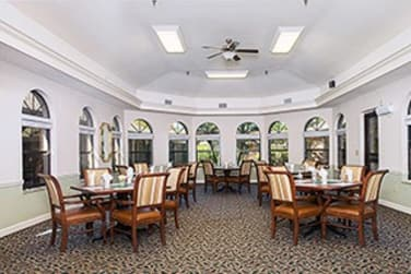 Dining Area at Grand Villa of Englewood in Englewood, Florida