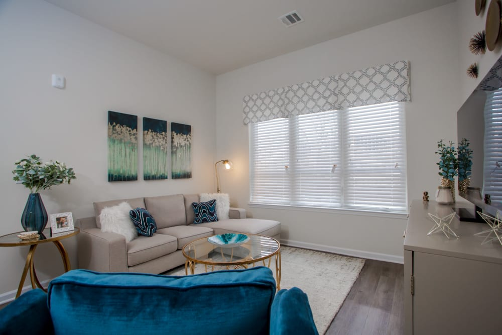 Enjoy our Unique Apartments Living Room at The Mark Parsippany