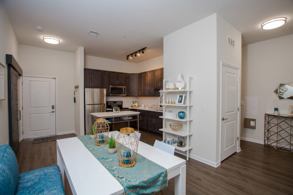Beautiful Dining area and kitchen at Apartments in Parsippany, New Jersey