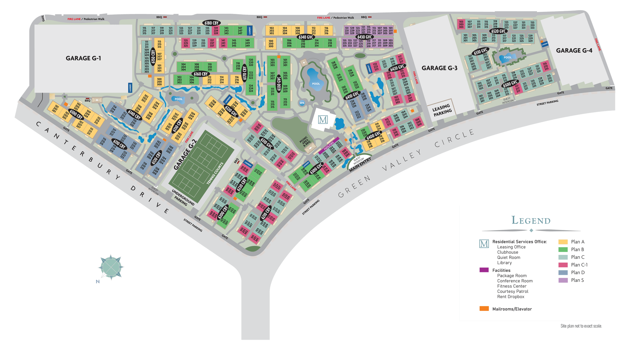 Site plan for our luxury community at The Meadows in Culver City, California