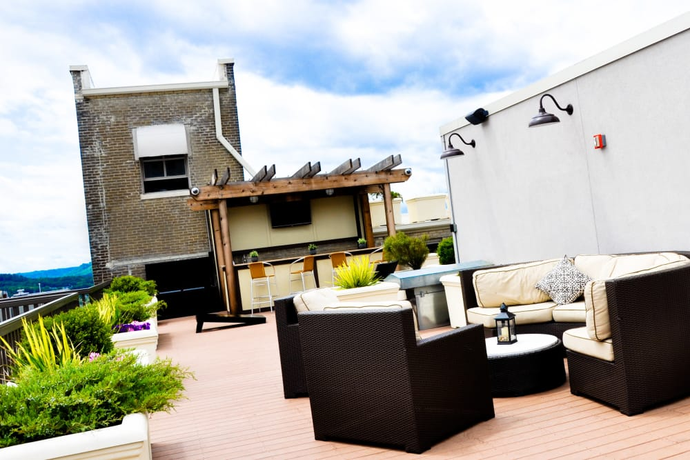 The Reserve at 4th and Race rooftop seating