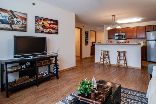Open floor plans at South Meadow in Ames, Iowa.