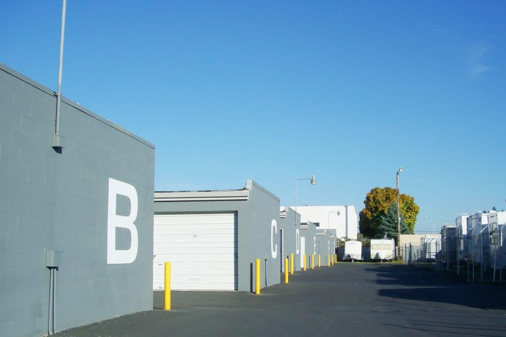 Storage unit blocks at U-Lock-It Self Storage in Vancouver, Washington