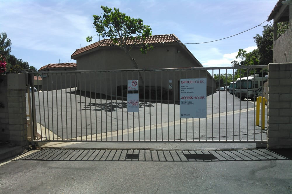 Entrance to self storage building in Camarillo