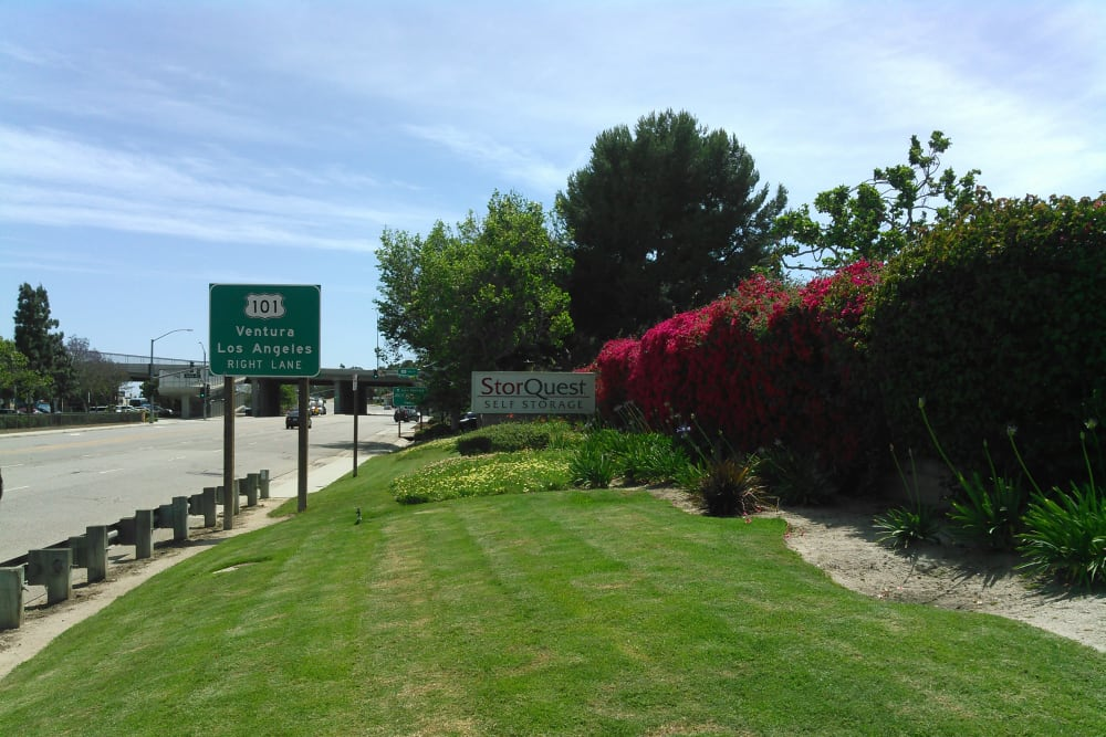 Storquest sign on highway in Camarillo
