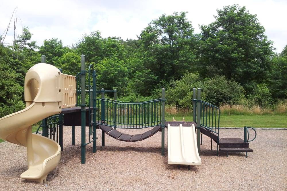 Playground at Davis Commons in Brockton, Massachusetts