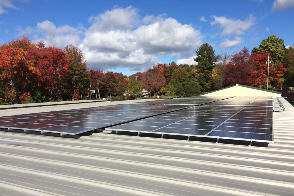 Solar power at Coventry Self Storage in Coventry, CT