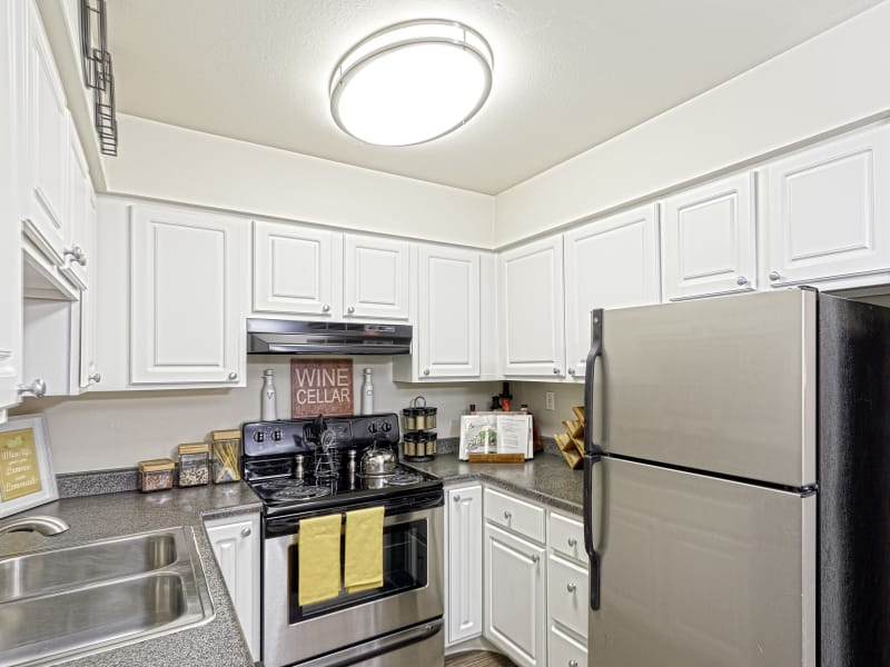 Fully equipped kitchen at Westhills Apartment Homes