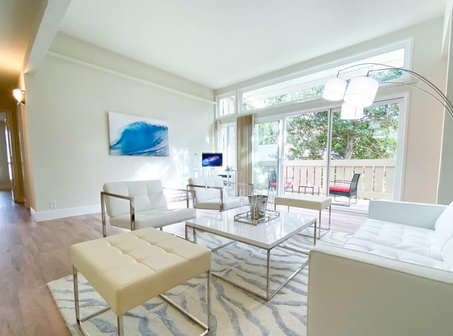 Modern lobby area in San Jose, California at Brookdale Apartments