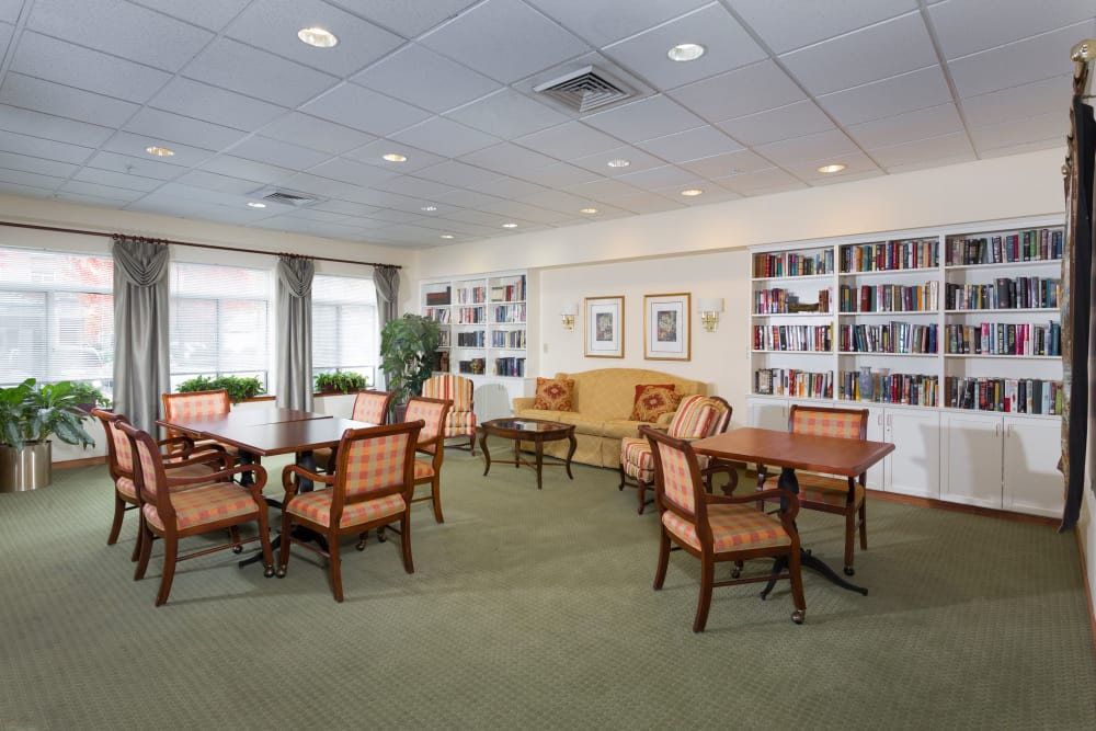 Library at Weinberg Gardens and Weinberg Terrace in Pikesville, Maryland
