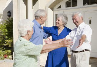 Senior living residents can earn rent credit by telling friends about their Discovery Commons community