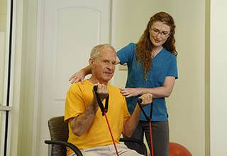 Physical therapy at Discovery Commons At Bradenton in Bradenton, Florida