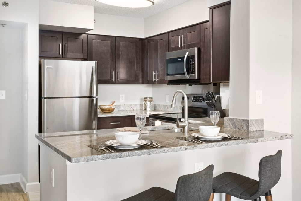 Modern kitchen at Alexander House in Silver Spring, Maryland