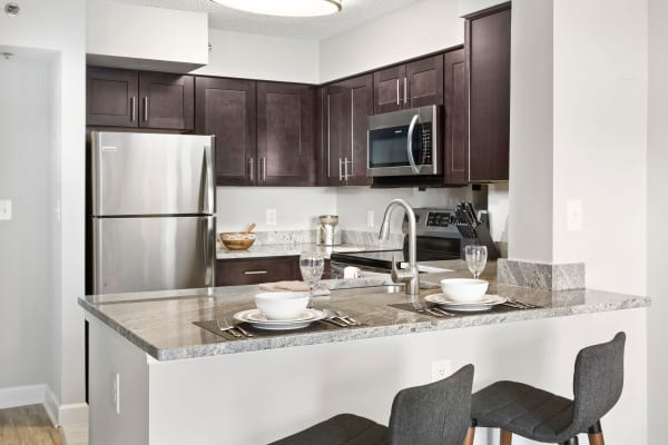New renovated kitchen at Alexander House in Silver Spring, Maryland
